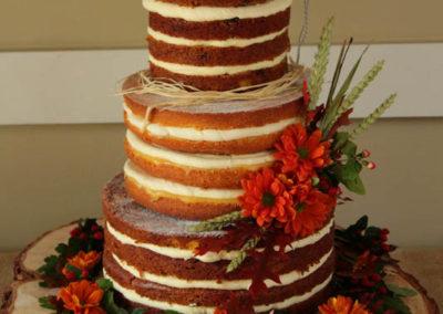 Autumnal naked cake