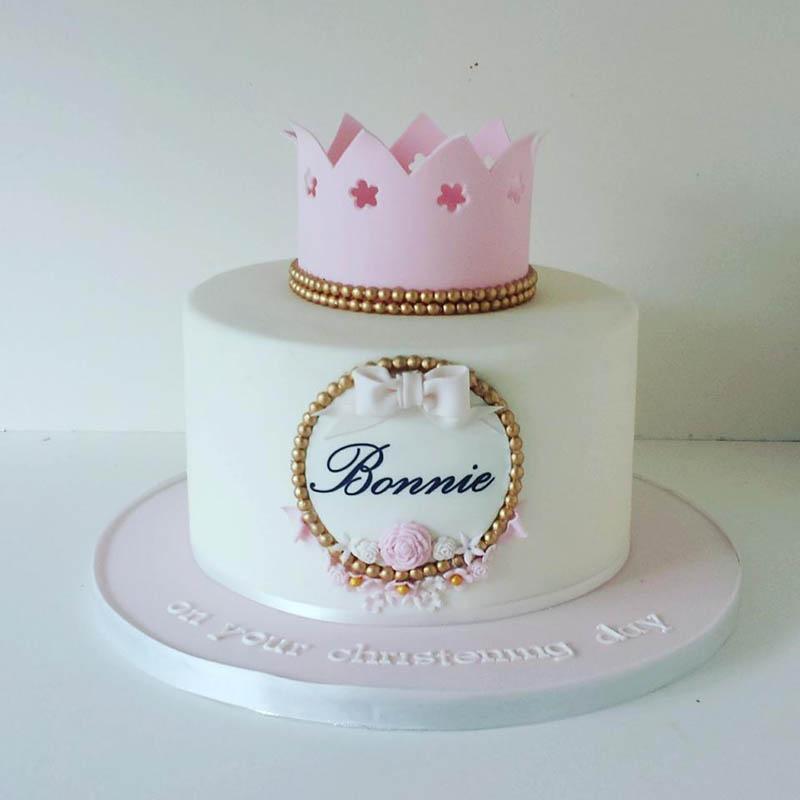 Christening Baby Birthday Cake