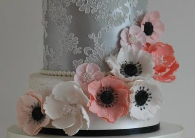 Silver & Ivory Lustre, Selection of Sugar Flowers