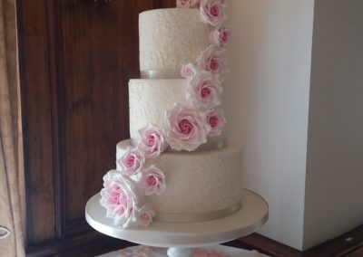Handmade Sugar Rose Cascade