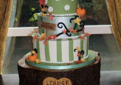 Autumn Themed Novelty Wedding Cake