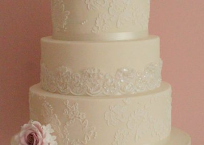 Alecon Lace with Handmade Sugar Roses