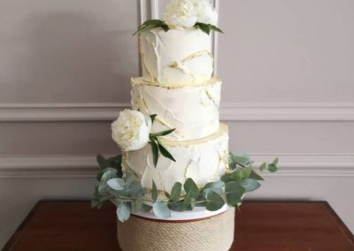 Three Tier Ocean Inspired with Gold Leaf Dromquinna Manor