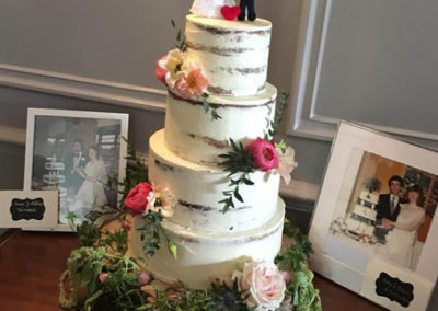 Four Tier Semi Naked Cake Dromquinna Manor