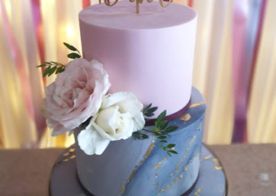 Marble & Pink Sugarpaste Springfort Hall