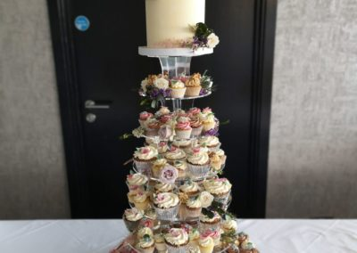Pastel Floral Cupcake Tower Kinsale Hotel